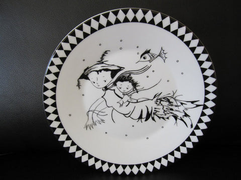 Hand Decorated Wedgwood China Plate