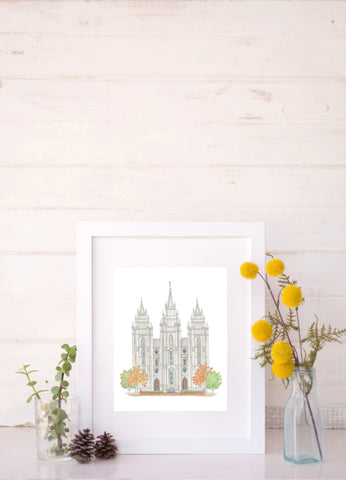 Watercolor LDS Temples