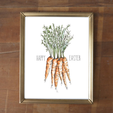 Happy Easter Carrots - FREE Digital Download