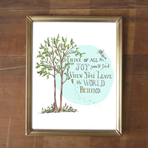 Think of All the Joy You'll Find- Peter Pan Print