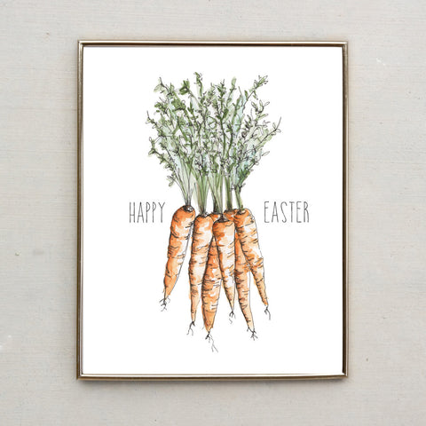 Happy Easter Carrots - Easter Print