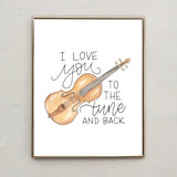 Punny Print- I Love You to the Tune and Back