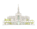 Bountiful, Utah LDS Watercolor Temple