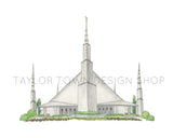 Dallas, Texas LDS Watercolor Temple