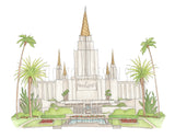 Oakland, California LDS Watercolor Temple
