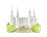 Washington, DC LDS Watercolor Temple