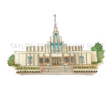 Phoenix, Arizona LDS Watercolor Temple