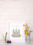 Add Custom Names and Date to LDS Watercolor Temple
