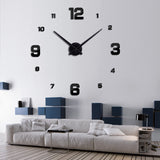3D Wall Clock Acrylic Mirror
