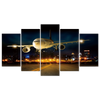 Airplane Landing 5 Piece Canvas