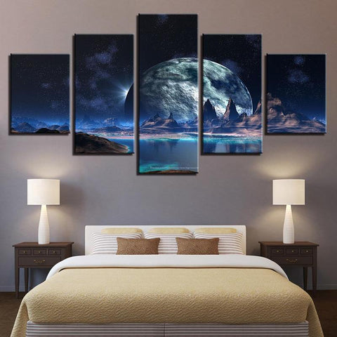 Ancient Moon 5 Piece Canvas
