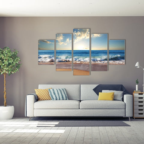 Beach Wave 5 Piece Canvas