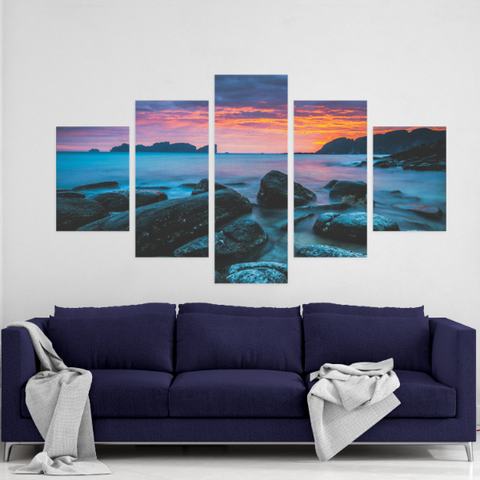 Blue Morning 5 Piece Canvas