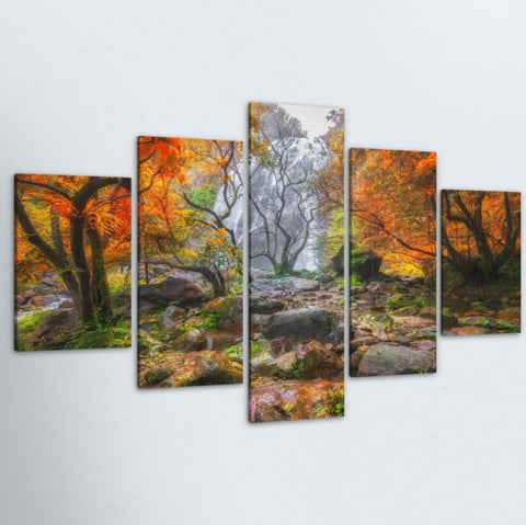 Colors of Autumn 5 Piece Canvas