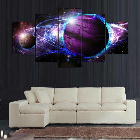 Cosmic Planets 5 Piece Canvas