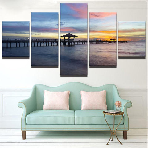 Dawn Pier 5 Piece Canvas