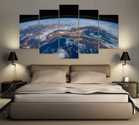 Earth from Above 5 Piece Canvas