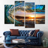Eye of the Wave 4 Piece Canvas
