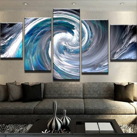 Eye of The Storm 5 Piece Canvas
