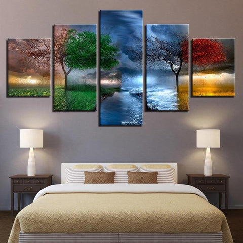 Four Seasons 5 Piece Canvas