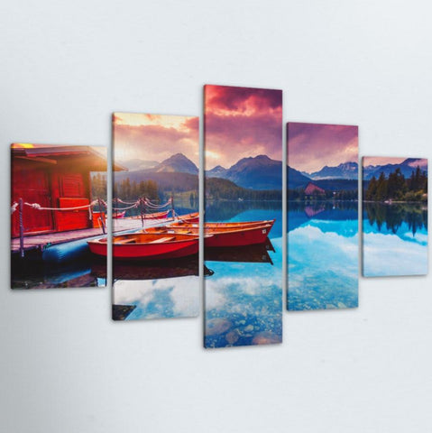 Lake Getaway 5 Piece Canvas