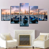 Morning Harbor 5 Piece Canvas