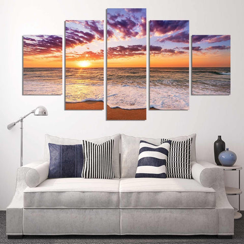 Glowing Horizon 5 Piece Canvas