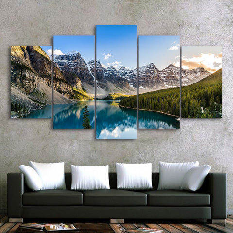 Refreshing View 5 Piece Canvas