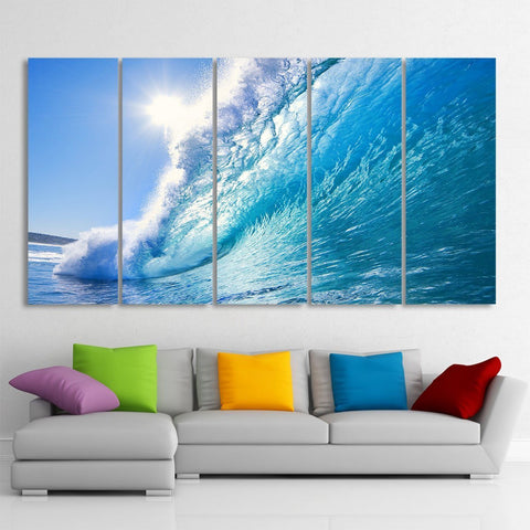 Big Wave 5 Piece Canvas