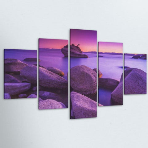 Purple Skies 5 Piece Canvas