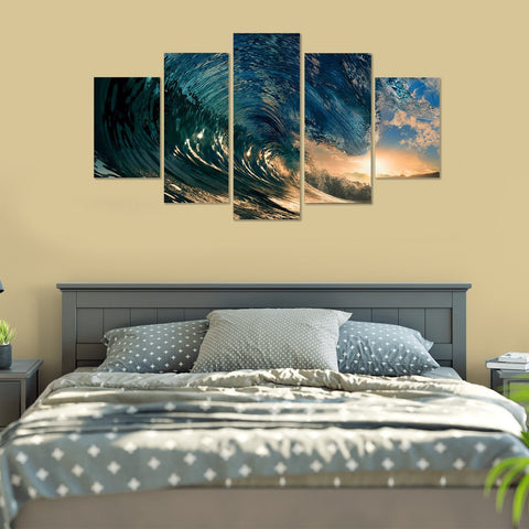 Rolling Waves 5 Piece Canvas