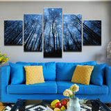 Starry Skies 5 Piece Canvas