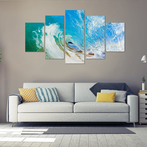 Perfect Wave 5 Piece Canvas