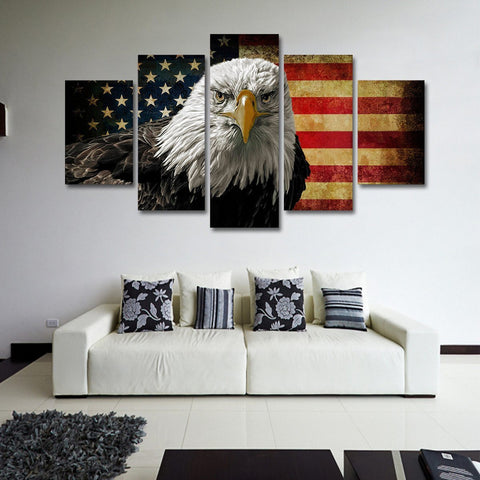 American Freedom Eagle 5 Piece Canvas