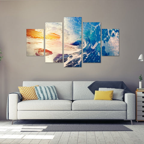 Wave Cover 5 Piece Canvas