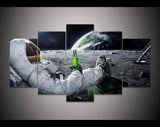 Man on the Moon 5 Piece Canvas