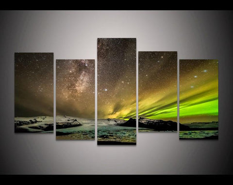 Milky Way Aurora Canvas