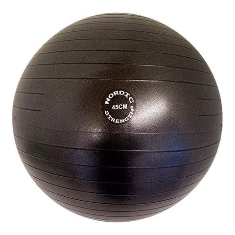 Träningsboll 45cm - Nordic Strength (Black Edition)