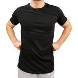 T-shirt soft basic black - Herr