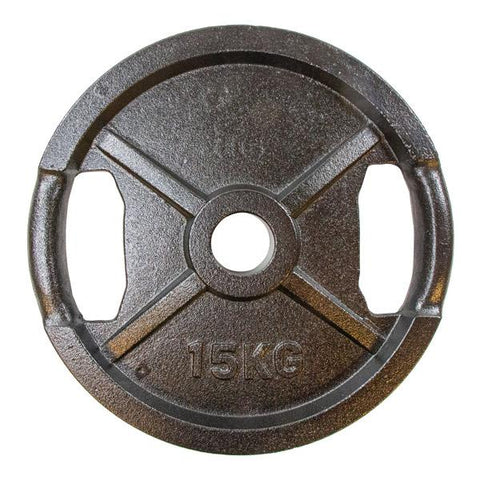 Viktskiva svart metall - 15 kg - (50mm) Nordic Strength