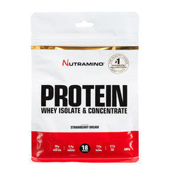 Strawberry Nutramino Proteinpulver  - 500 g
