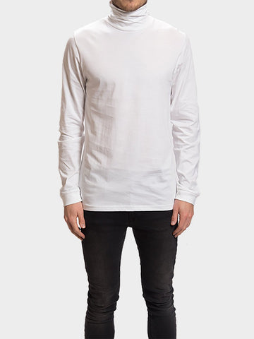 Revolution / Long Sleeve Turtleneck Tee | White