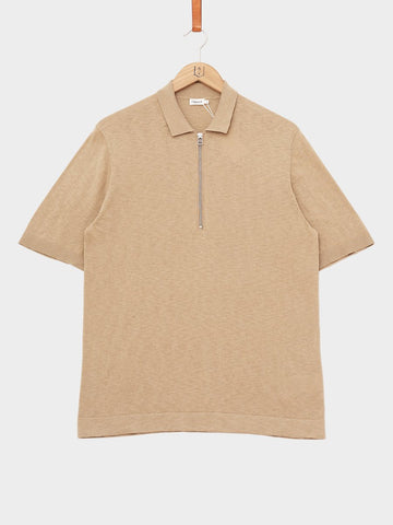 Filippa K / Knitted Poloshirt | Light Beige