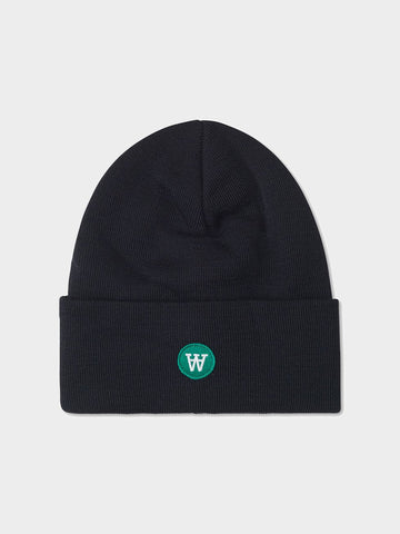 Wood Wood / Gerald Double A Tall Beanie | Black