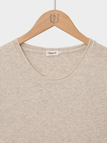 Filippa K / Roll Neck Melange Tee | Cloud Melange