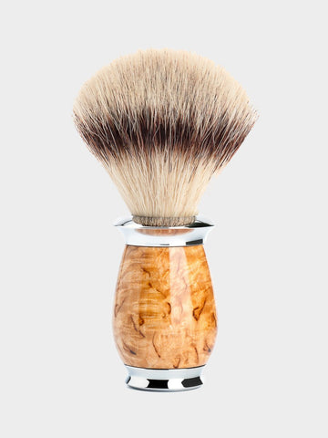 MÜHLE / Purist Silvertip Fibre Shaving Brush | Birch - stvalentin.dk - 1