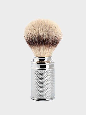 MÜHLE / Classic Safety Silvertip Fibre Shaving Brush | Chrome - stvalentin.dk - 1