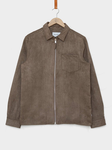 Wood Bird / Kent Faux Shirt | Grey