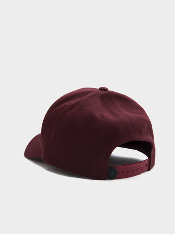 BLS Hafnia / Classic High Profile Baseball Cap | Burgundy
