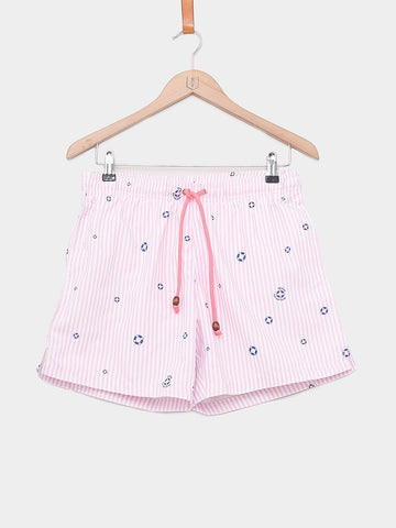 Balzac Projects / Allover Portofino Yacht Shorts | Pink Stripes